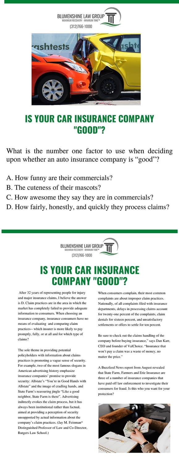 how good is your insurance company?